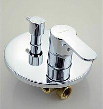 Mélangeur de robinet de douche rond encastrable