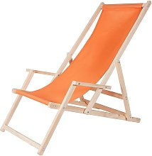 Melko Chaise longue en bois avec accoudoir chaise