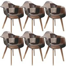 Melo - lot de 6 fauteuils scandinaves aspect vieux