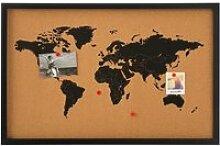 Mémo carte du monde en liège Autres Noir