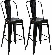 Mendler 2X Tabouret de Bar HWC-A73, Chaise de