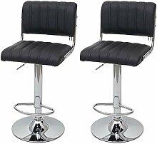 Mendler 2X Tabouret de Bar HWC-F17, Chaise de
