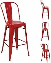 Mendler 4X Tabouret de Bar HWC-A73, Chaise de