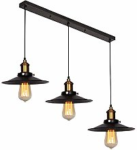 Mengjay 3 Lampes Suspension Luminaire Industrielle