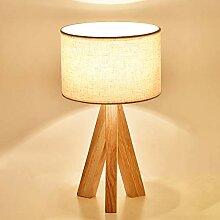 Mengjay Lampe de Chevet en Bois à Trépied,