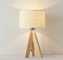Mengjay Lampe de Chevet en Bois à Trépied, Lampe