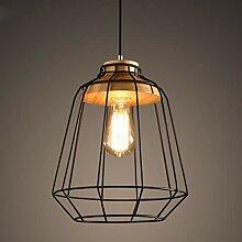 Mengjay Suspension Luminaire Industrielle, Bois