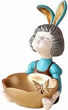 Mengmengda Figurine lapin fille avec boîte de