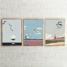MENGX Créativité Toile Peinture, gobelet Vintage