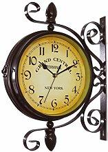 Mentin Horloge de Gare Double Face - Station de
