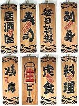 Menu en bois de sushi solide de style japonais,