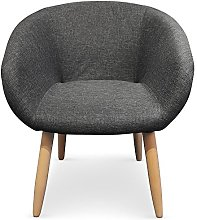 Menzzo Chaise/Fauteuil Style scandinave Frost Gris