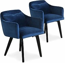 Menzzo Gybson Fauteuil, Velours, Bleu, 59