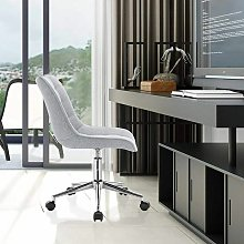 MercartoXL modèle de lin Tabouret gris clair