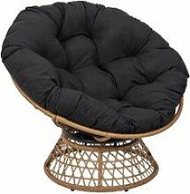 Merida - fauteuil pivotant noir avec assise