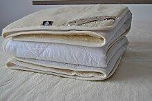 Merino Wool Surmatelas réversible 100 % laine