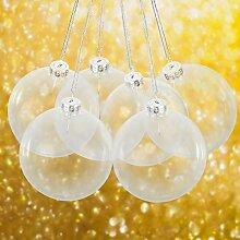 Merkisa Lot de 6 Boules de Noël en Verre