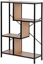 Merkmak - Bibliotheque decalee de 4 etageres,