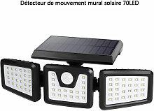 Merkmak - Lampe Solaire Applique Murale 70 LED