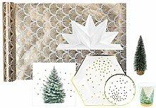 MESA BELLA Kit décoration de Table de Noël Or