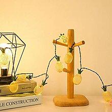 Métal ananas solaire chaîne de lumière