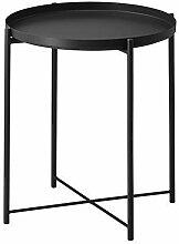 Métal Rond Plateau Side End Table d'or Table