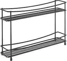 Metaltex Porte-épices 2 étages, noir, 33 x 8 x