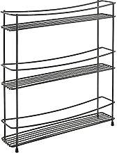 Metaltex Porte-épices à 3 niveaux, noir, 35 x 7