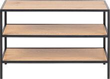 Meuble à chaussures industriel métal et bois