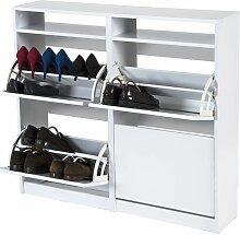 Meuble à chaussures Tamesis 54AB   Blanc