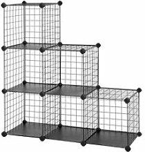 Meuble armoire étagère modulable grille 6