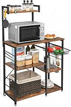 Meuble auxiliaire de cuisine avec étagères
