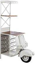 Meuble bar vintage en métal ROOTS 2