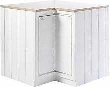 Meuble bas d'angle de cuisine 1 porte blanc