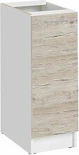 Meuble bas de cuisine - 1 porte L 30 cm - décor