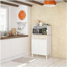 Meuble bas de cuisine 2 portes + 1 tiroir blanc -