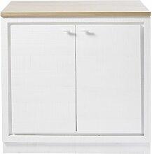Meuble bas de cuisine 2 portes blanc