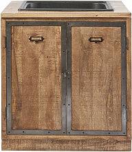 Meuble bas de cuisine avec évier 2 portes en