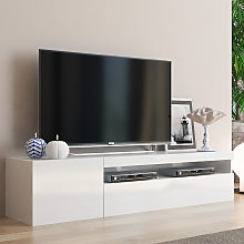Meuble bas meuble TV moderne avec porte et tiroir