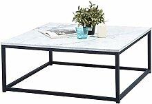 MEUBLE COSY Table Basse Carré MARBRE - Décor