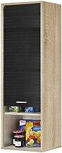 Meuble Cuisine Chêne Noir 40 cm x 124 cm