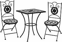Meuble de bistro mosaïque 3pcs Carreaux