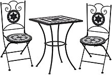 Meuble de bistro mosaique 3pcs Carreaux ceramiques