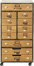 Meuble de rangement 12 tiroirs à roulettes