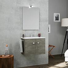 Meuble de salle de bain base suspendue 2 portes
