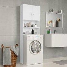 Meuble de salle de bain - blanc 64 x 25,5 x 190 cm