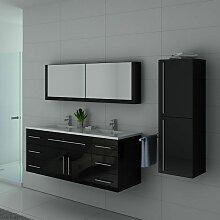 Meuble de salle de bain DIS749 Noir