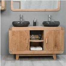 Meuble de salle de bain en teck rétro 120cm 31040