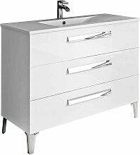 Meuble de salle de bain LINARES 100 cm Blanc