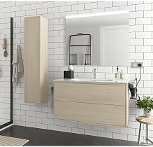 Meuble de salle de bain suspendu 100 cm Ulisse en